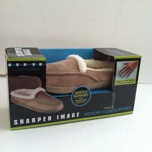 Sharper Image Memory Foam Slippers